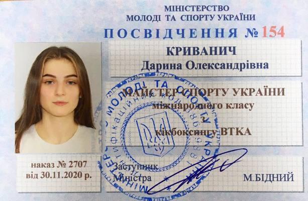 Дарині Криванич присвоєно звання МСУМК